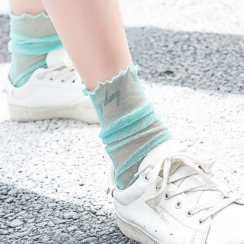 Super Thin Transparent Glitter   Socks   Women Shiny Long harajuku   Sock   Solid Ladies Funny   Socks   Happy Novelty Woman Mesh   Socks   Sexy