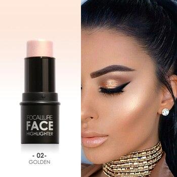 Focallure Face Highlighter&Bronzer Stick Shimmer Powder Creamy Waterproof Concealer Glitter face contour face highlighter pen недорого