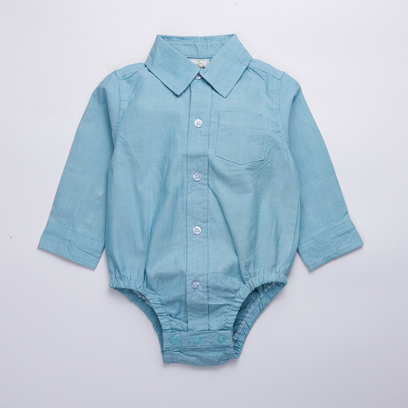Baby clothes 2018 spring boy bodysuits 100% cotton full sleeve baby shirt formal newborn boys jumpersuit outfit