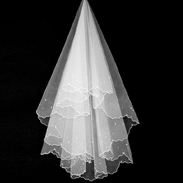 Womens Short Tulle Bridal Veil Wedding Veil Pencil Edge For Bride Flower Girl Wedding Party 2019