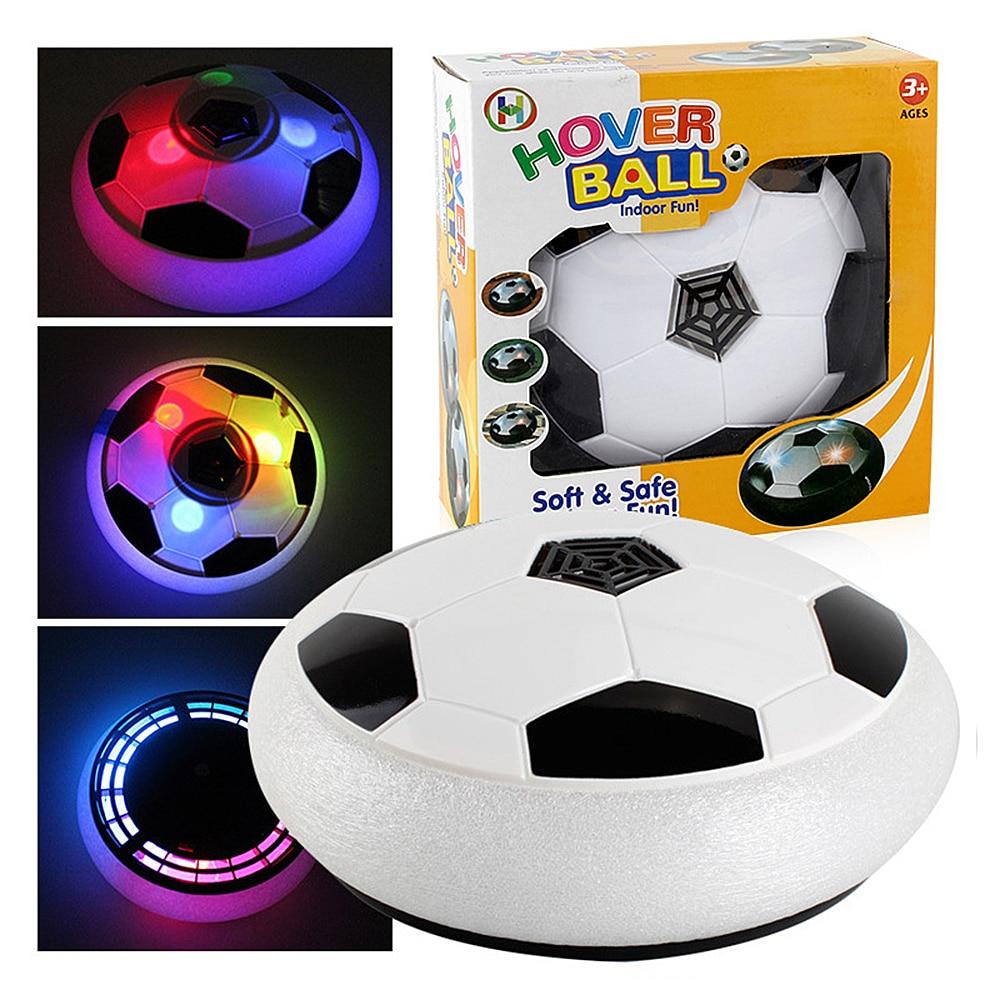 LED Light Flashing Ball Toys Air Power Soccer Balls Disc Gliding Multi-surface Hovering Football Game Kid Chidren Drop Shipping