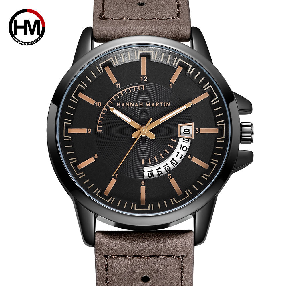 Mens Watches Top Brand Luxury Special Calendar Waterproof Men Military Sport Casual Breathable Summer Brown Leather Wrist Watch