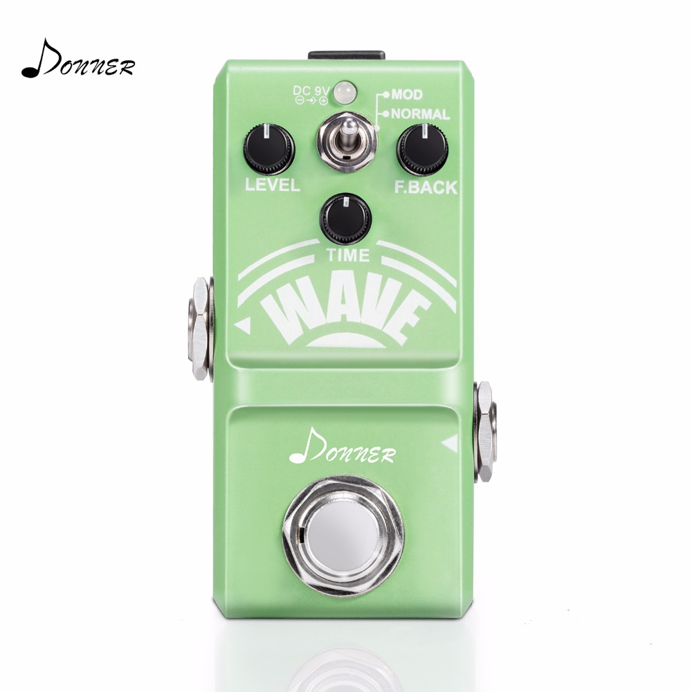 Donner Wave Delay Guitar Effect Pedal Pure Analog Whole Circuit Delay Mini Pedal Aluminum Alloy Nano True Bypass Green