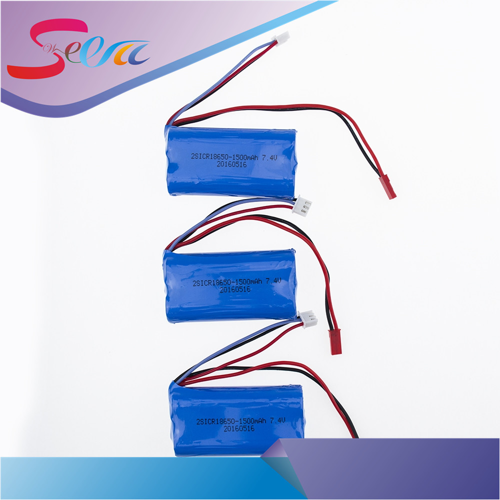 3pcs 7.4V 1500Mah 18650 15C Li-ion Battery Parts For MJX T40 T40C F39 F49 T39 Syma 822 RC Helicopter Wholesale wholesale mjx toys new product f49 f649 single propellers 2 4g 4ch rc helicopter blue spare parts package free shipping