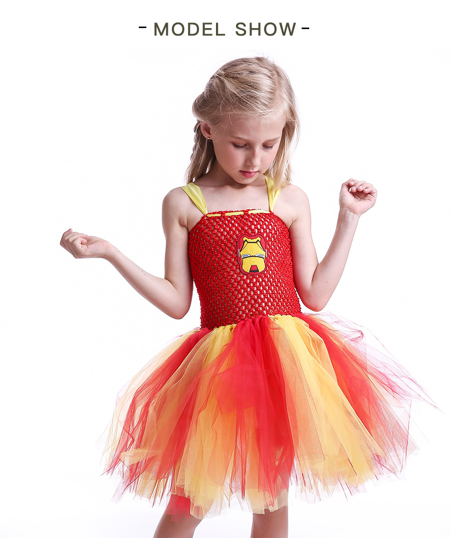 Iron Man Girls Tutu Dress Cartoon Baby Gril Halloween Cosplay Party Dress Handmade Fancy Superhero Inspired (4)
