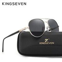 Hot With 6 Accessories Kingseven Brand Designer Aviator Polarized Sunglasses Men Driving Sport Sun Glasses Women