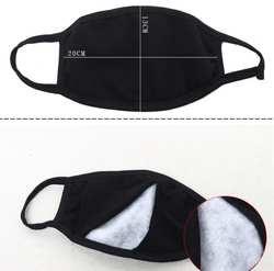 Рот маска хлопок PM2.5 анти дымке маска Black Dust