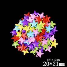50pcs/lot  8*8mm Candy Color Acrylic Plastic Irregular Beads DIY For Kids Jewelry Making Findings Accessories for Women