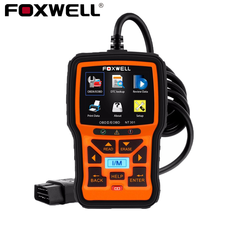 FOXWELL NT301 Universal Car OBD2 Engine Scanner Live Data Codes Auto OBD 2 OBDII EOBD Error Reader Scan Tool Automotive Scaner auto obd obd2 vd tcs cdp pro bluetooth complete kits green single board nec relay with led on obdii for cars trucks dhl shipping