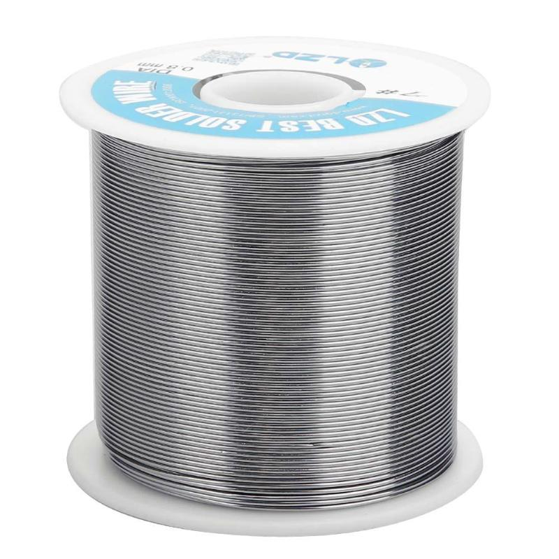 цена на 100m 0.8mm Tin Soldering Wire Rosin Flux Roll Core Electronic Solder Tool For SMD Welding Flux Content 3.0%