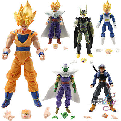6pcs/set 15cm Joint Movable Anime Dragon Ball Z action figures Goku Vegeta Piccolo Gohan super saiyan dragonball z Toy DBZ 1 pcs anime dragon ball z toy figure super saiyan goku pvc action figures big size dragonball model toys for boys kids wholesale
