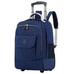 Сумки на колёсиках Путешествия Рюкзак плеча Spinner Рюкзаки Высокое ёмкость колёса для чемодана Тележка вести вещевой мешок WSD1505