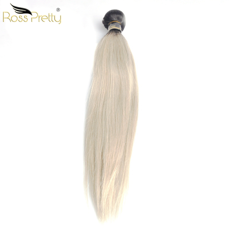 Peruvian Hair Extension Remy Human Hair Bundles lengths 10-28Inch 3pcs Peruvian Ombre color 1b grey Quality Straight Ombre Hair