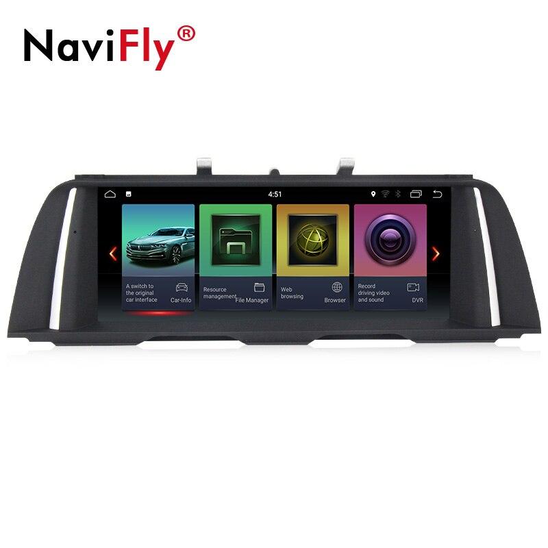 UE livre de impostos! IPS android puro 32 2G + G quad core gps do carro jogador de rádio para BMW Série 5 F10/ f11/520 (2011-2017) para CIC/NBT