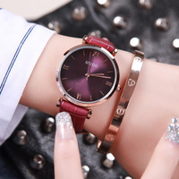 6 Colors Fashion Casual Watches Top Luxury Brand Kobiet Zegarka Ladies Women Watches Leather Quartz Wristwatch