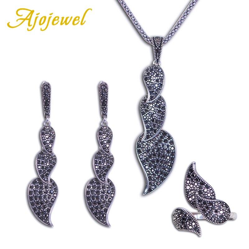 Ajojewel Black Crystal...