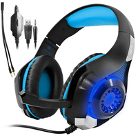 INTON 3.5mm Stereo Gaming Headset PS4 Headphone For Computer With Microphone Mic Xbox One Headset Gaming Headphones For PC Gamer
