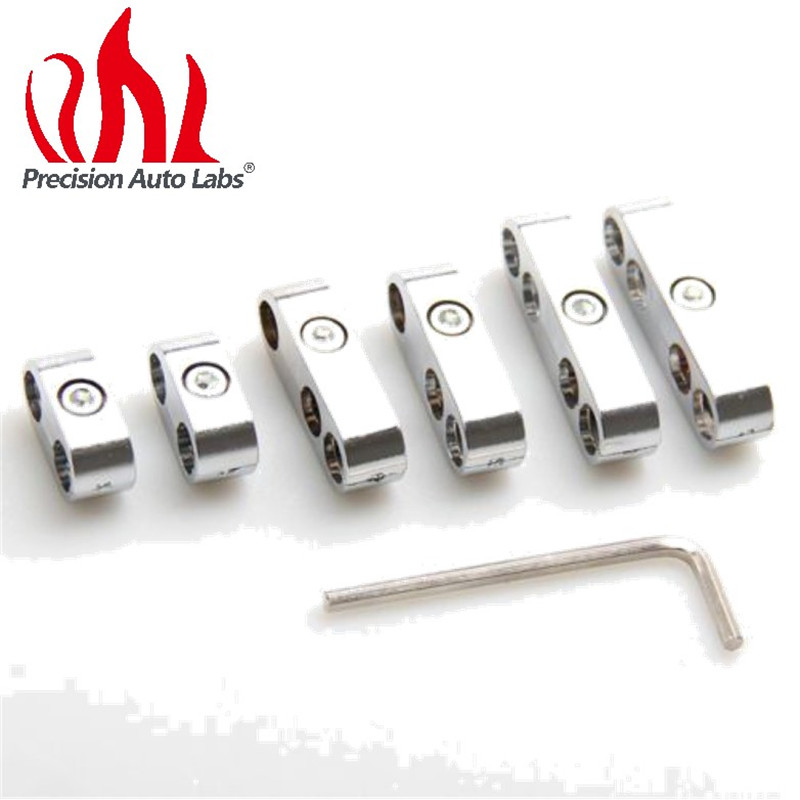 7*2 Set Universal Chrome Spark Plug Loom Dividers Wire Separators 7, 8, 8.8, 9mm For Chevy For Ford & Mopar