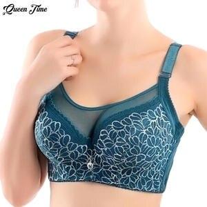 2bdf6527e3ef2d queen time Women Sexy bralette lace underwear Push Up bras