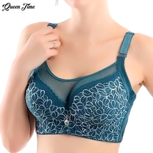 Women Sexy bralette, big size lace underwear Push Up bras,e 80 85 90 95 100 B C D, Intimates unlined Full Coverage Bra Q