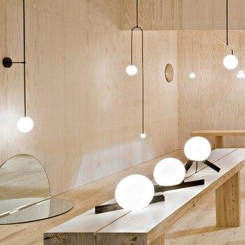 الشمال الحديثة وحدة إضاءة LED جداريّة مصباح كرة زجاجية مرآة حمام Besde الأمريكية الرجعية جدار ضوء الشمعدان