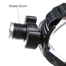 4 режима 3-светодиодный налобный фонарь Открытый фонарик T6+ 2COB фара Регулируемый зум