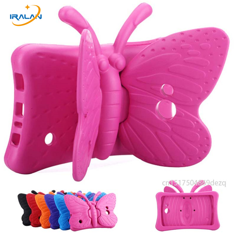 Kids Safe butterfly 3D cover For Samsung Galaxy Tab 4 7.0 T230 T231 Tab 3 4 Lite T110 T116 Tab 3 T210 T211 P3200 Tablet case+Pen чехол для планшета 0asis samsung tab4 t230 t230 7 for galaxy tab 4 t230