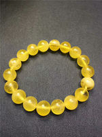 Genuine Natural Amber Gemstone Oval Beads Woman Bracelet 11mm AAAA Free Shipping