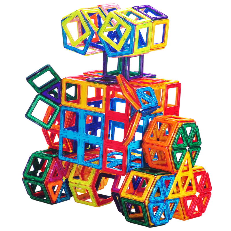44pcs-157pcs Big Magnetic Designer Construction Set Model & Building Toy Plastic Magnetic Blocks Educational Toys For Kids Gift44pcs-157pcs Big Magnetic Designer Construction Set Model & Building Toy Plastic Magnetic Blocks Educational Toys For Kids Gift