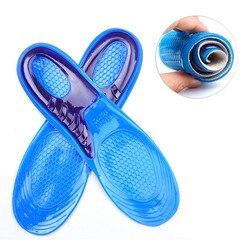 MWSC de Gel de silicona plantillas hombre plantillas de mujer ortopédicos masaje zapatos de absorción de choque Shoepad
