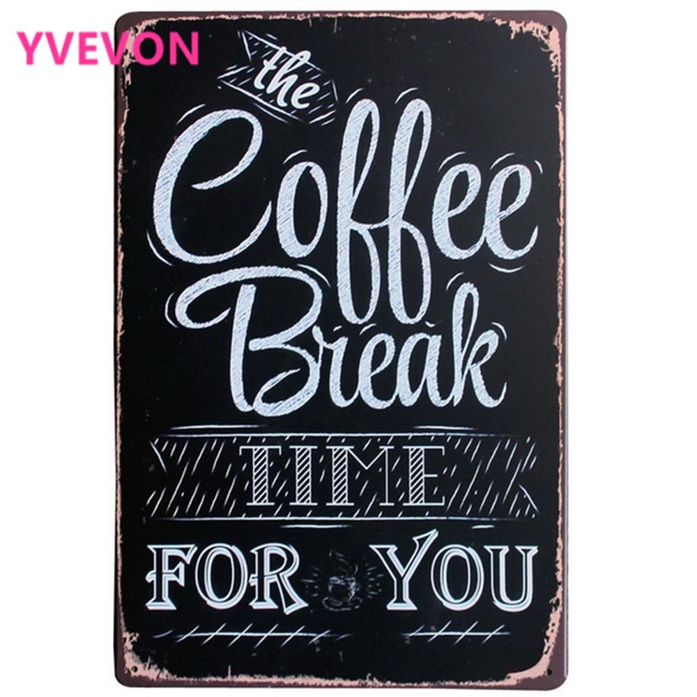 Take a Break Rilax coffee kitchen bar tin metal sign business plaques