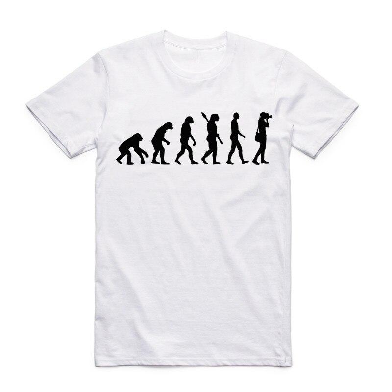 Yaz Erkek Kadın Baskı Bir Fotoğrafçı Evrimi T Gömlek Kısa - Erkek Giyim - Fotoğraf 3