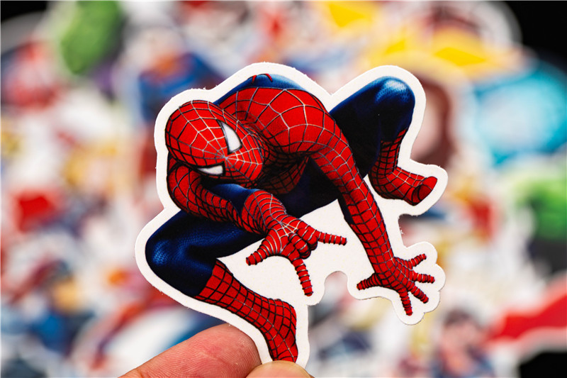 Super Hero Stickers Funny JDM Kids Toy Sticker for DIY Luggage Laptop Skateboard Motorcycle Car Phone Bedroom Sticke (7)