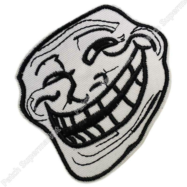US $7 9 |Trollface Iron on Patch Problem U Mad Cool Troll Face 4Chan  Internet Meme Geek Biker Vest Patch Rock Punk Fun-in Patches from Home &  Garden