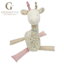 21cm cute pink stuffed giraffe doll,100% cotton knit Eco material, plush toys  for kid&babies