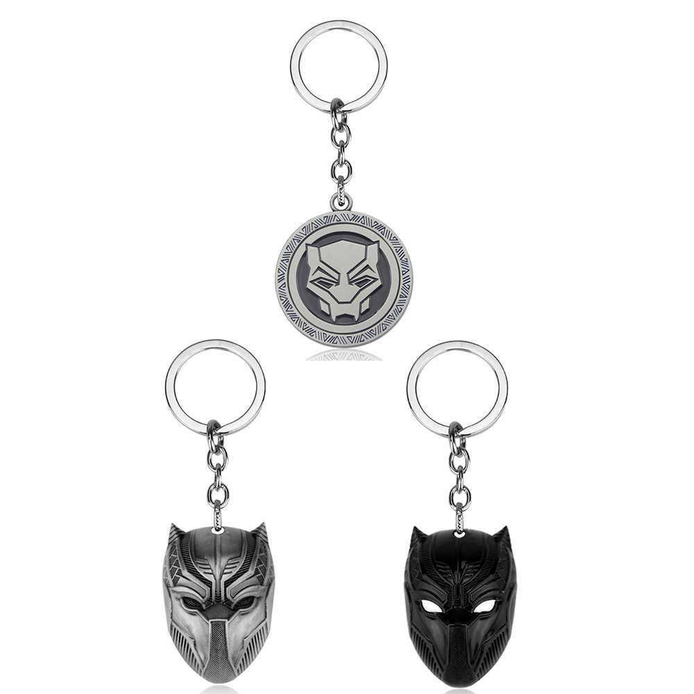 Hot Marvel Filme Preto Pantera Chaveiro Titular Moda Máscara de Super-heróis de Moedas De Metal Chaveiros Chaveiros Jóias Presente de Formatura