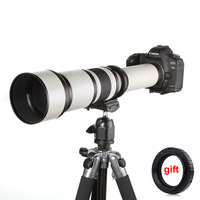 650 1300 MM F/8.0 16 Super Telephoto Zoom Lens + T2 Adapter for Canon Nikon Sony Pentax DSLR Camera