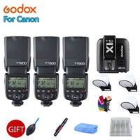 Godox TT600 2.4G Wireless Camera Flash Speedlite , Godox X1T C Transmitter TTL Wireless Remote Flash Trigger for Canon Camera