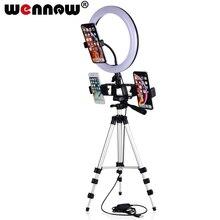 16 26 سنتيمتر التصوير الفوتوغرافي عكس الضوء LED Selfie حلقة ضوء يوتيوب فيديو لايف يشكلون مصباح ضوء استوديو الصور مع حامل الهاتف USB التوصيل