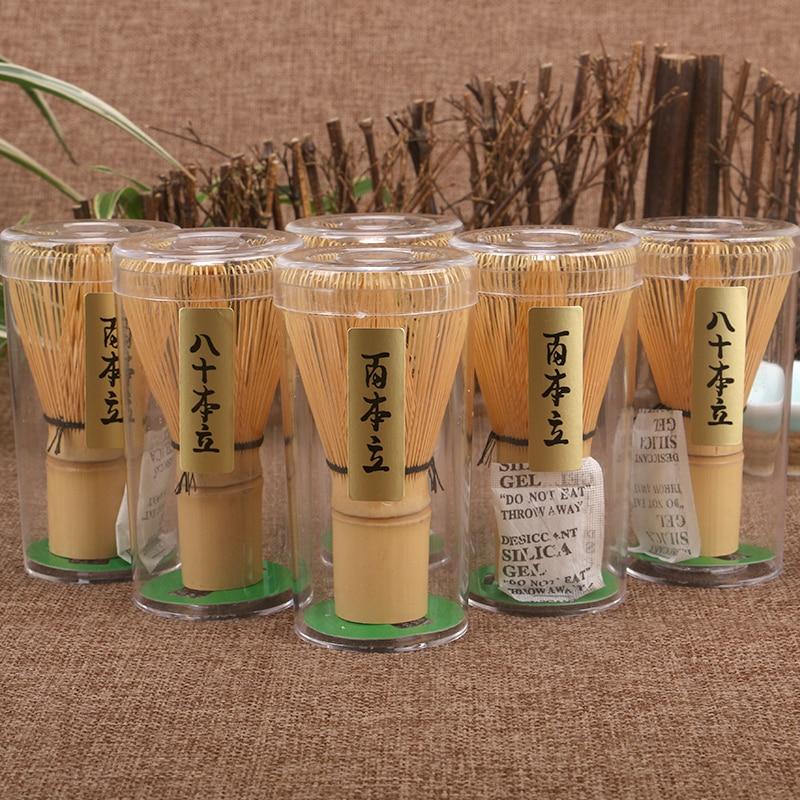 Ceramica giapponese Bamboo Matcha Pratico in polvere Frullino 80 100 Caffè Green Tea Brush Chasen Tool Grinder Spazzole Strumenti da tè