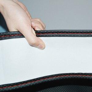 Image 5 - Osłona na kierownicę do samochodu 38cm 40CM ręcznie szyte DIY z mikrofibry osłona koła samochodu z igła i nić wyposażenie wnętrz