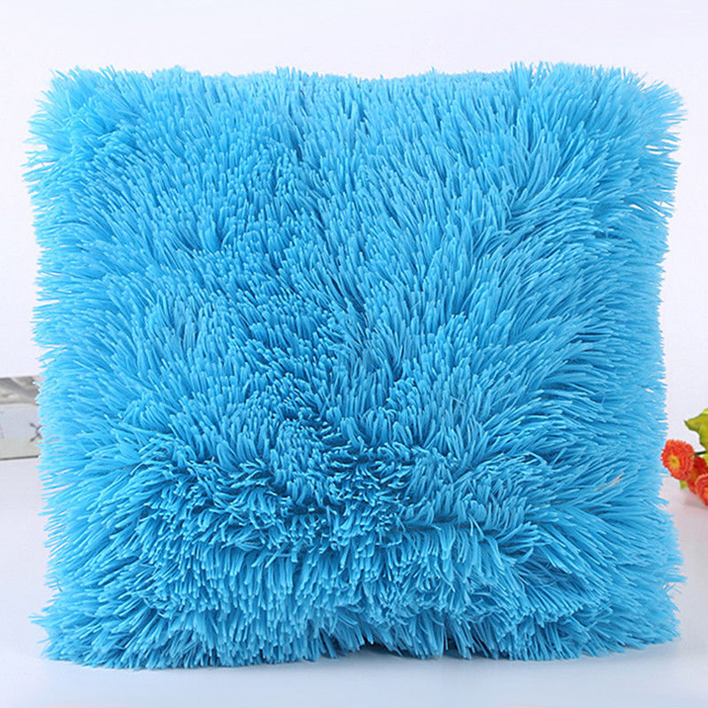 Image 5 - Sea Lion Cashmere Pillowcase Short Plush Pillow Cover Popular Square Plush Furry Pillowcase Cover Home Bed Room Decoration-in Decorative Pillows from Home & Garden