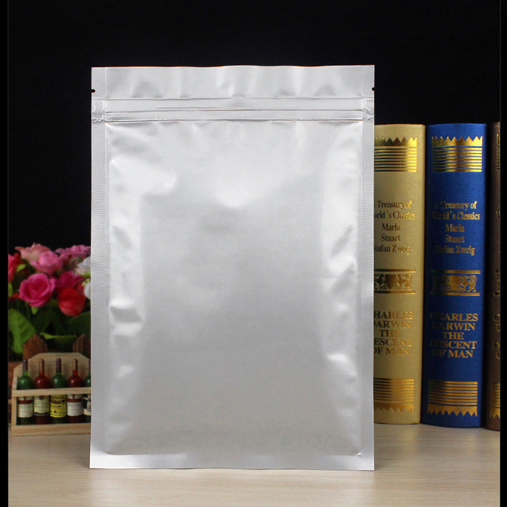 Us 0 59 21 Off 5pcs Silver Aluminum Foil Mylar Bags Sealable Zipper Food Saver Bag Zip Lock Gift Ng Storage Pouches For Party Favor In