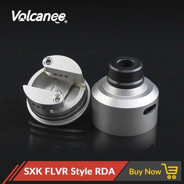 Volcanee SXK Flvr Phong Cách RDA Thép Không Gỉ Atomizer RDTA Vape Xe Tăng Với Driptip Cho Thuốc Lá Điện Tử Cơ Box Mod