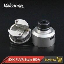 Vulcanee SXK FLVR Style RDA, atomizador de acero inoxidable, tanque de RDTA de vapeo con Driptip para cigarrillo electrónico, caja mecánica Mod