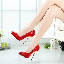 14CM Heel Height Sexy Round Toe Stiletto Heel Pumps Party font b Shoes b font Metal