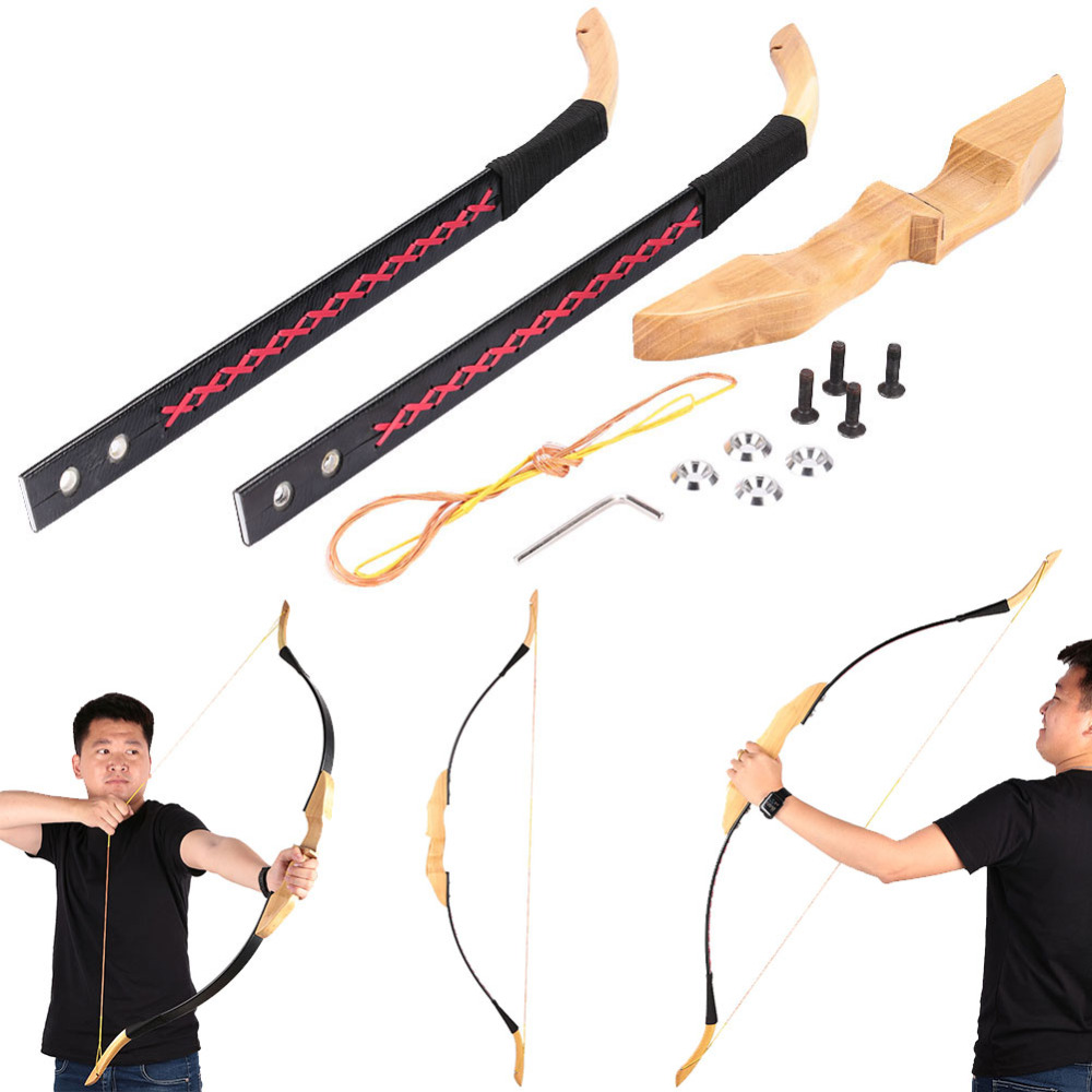 Powerful Straight Bow Bow Arrow Outdoor Sports Hunting After Assembly 128cm Competitive Competition For Shooting Hunting Game shooting straight