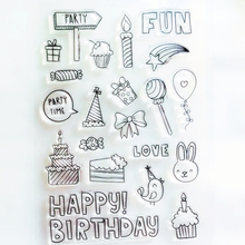 HAPPY Birthday Silicone Clear Stamps For Scrapbooking DIY Photo Album Cards Decoration Transparent Stamp Craft New