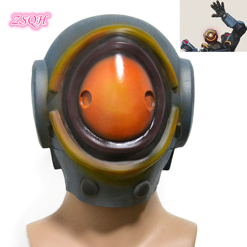 ZSQH Game Apex Legends Pathfinder Full head Latex Mask cosplay mask costume prop Halloween terror Pathfinder Latex Helmet Kids