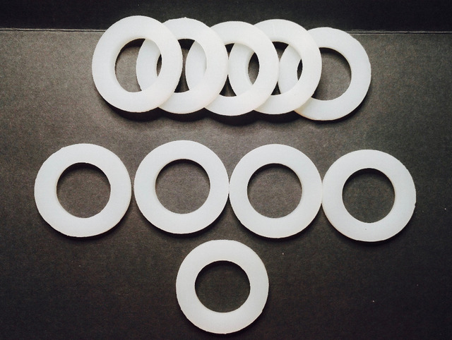 Custom Made 10x Silicone Washers Gaskets Pads 40mm x 25mm x 5mm O ...